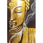 Quadro Buda Acrílico sobre tela Pintado à Mão 60x40cm