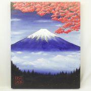 Quadro Estilo Japonês Monte Fuji Sakura Pintado à Mão / Decoração Oriental, Arte, Estampa Japonesa, Fujiyama