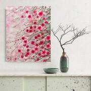 Quadro Estilo Japonês Sakura Flor de Cerejeira Pintado à Mão 40x50 / Decoração Oriental, Arte, Estampa Japonesa