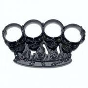 Soco Inglês Skull in Flames - Caveira em Chamas / Liga de Metal Preto