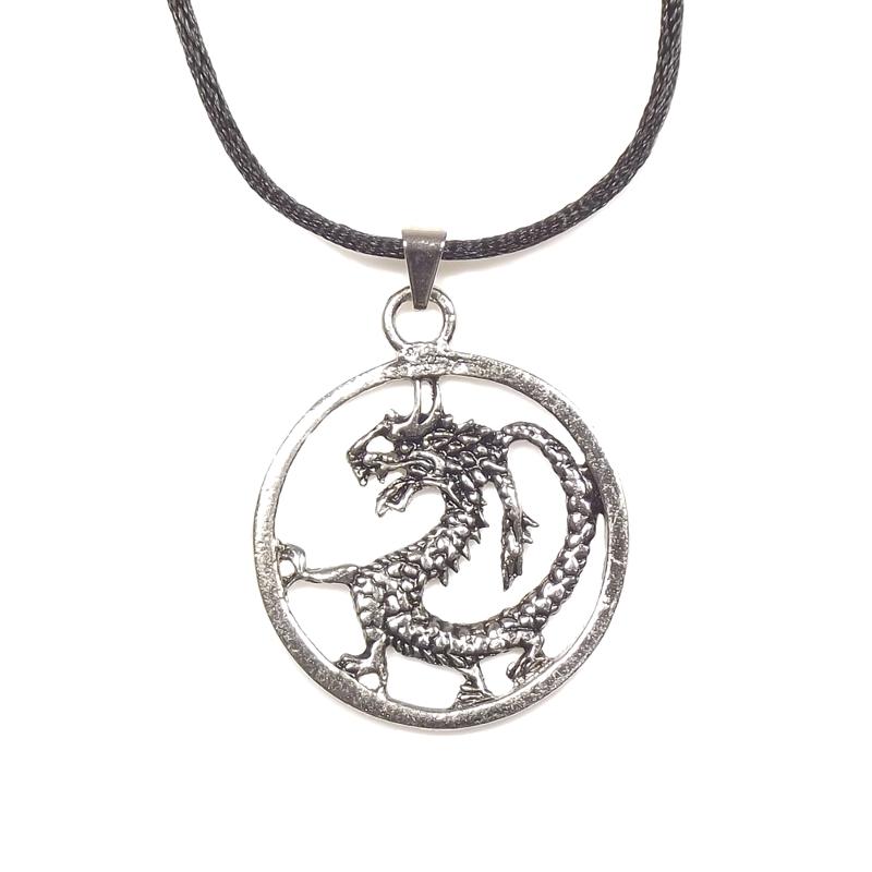 Pingente Ryuu Dragão Proteção Redondo