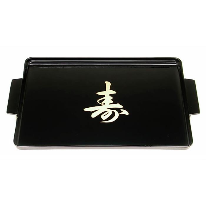 Bandeja c/ Alça Preta Kanji 28 x 17cm