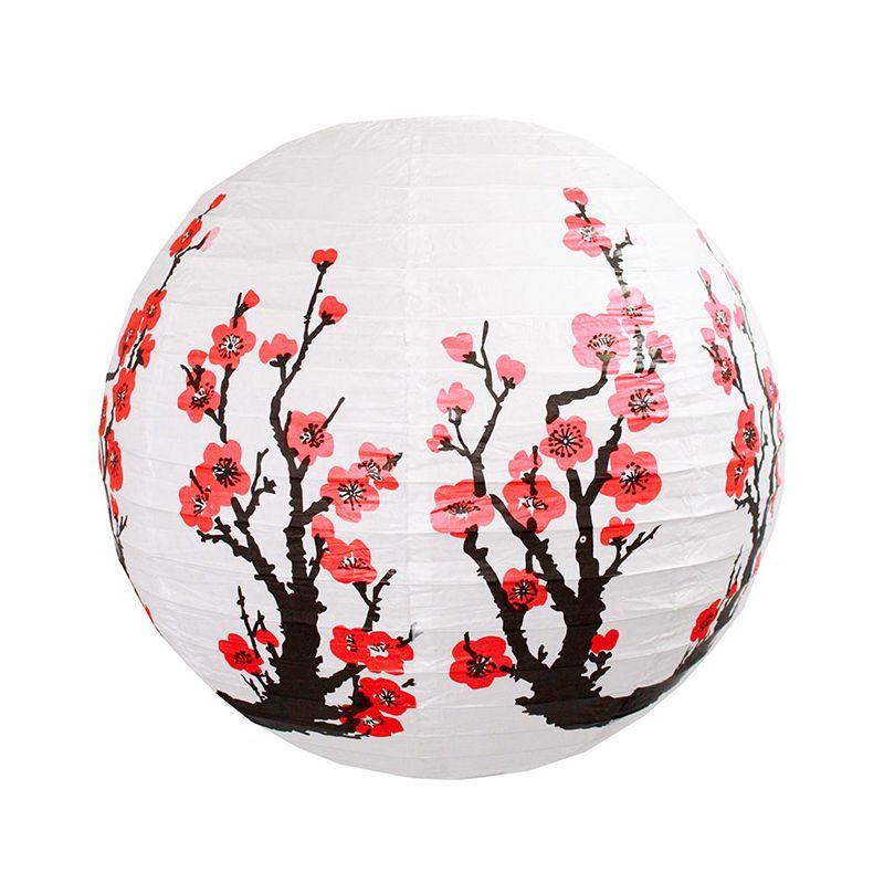 Luminária Oriental Cerejeira Vermelha 30 cm