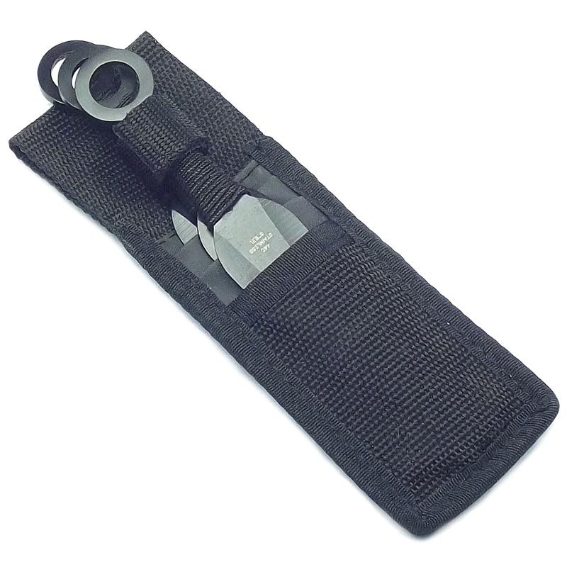 Kunai Triplo Aço Inox 440 17cm + Porta-kunai