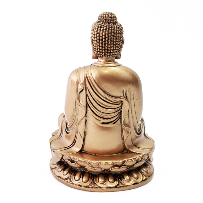 Buda Dourado Sentado Lotus 12 cm