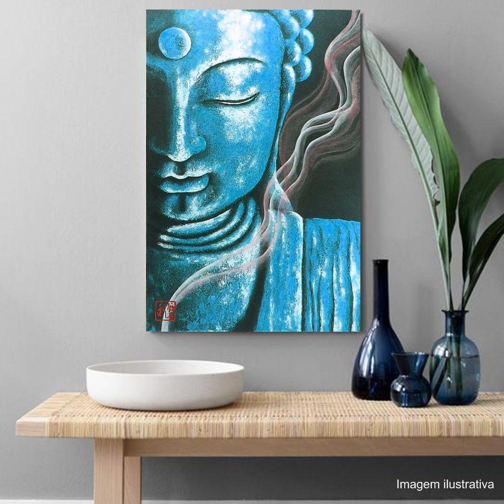 Quadro Buda Color Acrílico sobre tela Pintado à Mão 60 x 40 cm / Feng Shui, Decoração Oriental, Arte, Estampa Japonesa, Pintura Artesanal