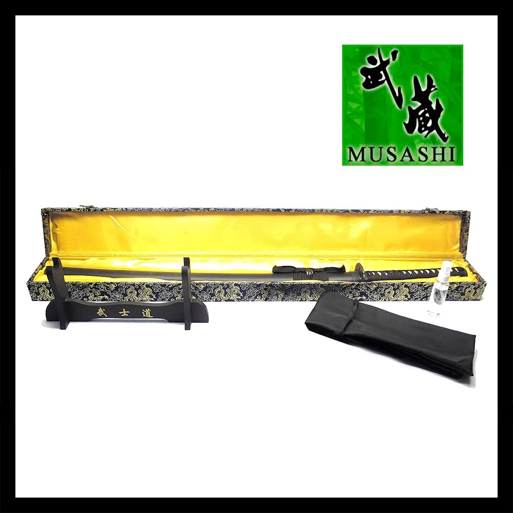 Espada Iaito Ryuu Choukoukyuu / funcional s/fio de corte + Suporte + Capa + Lubrificante + Caixa