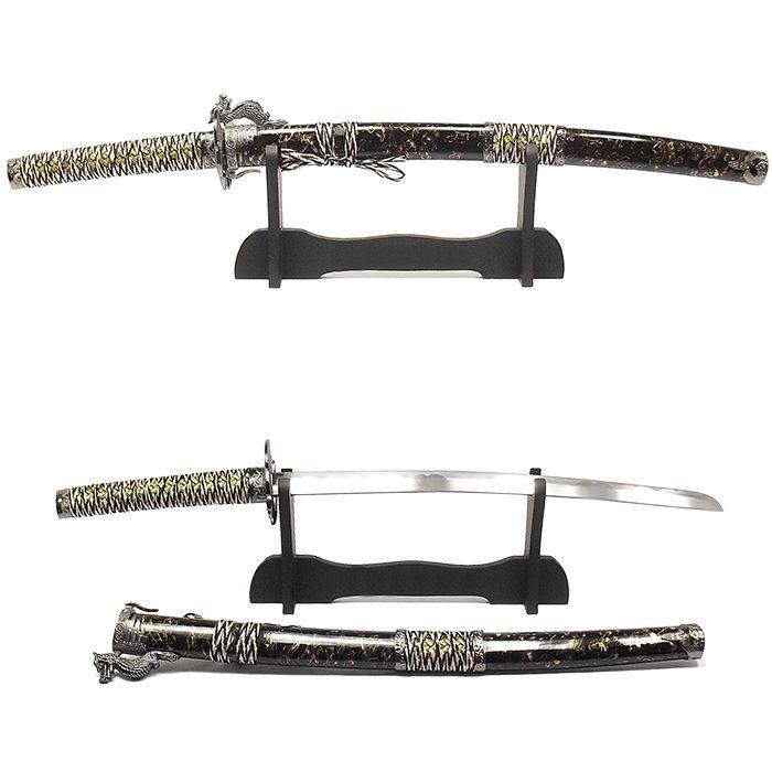 Espada Katana Wakizashi Kouryuu Bege + Suporte + Lubrificante