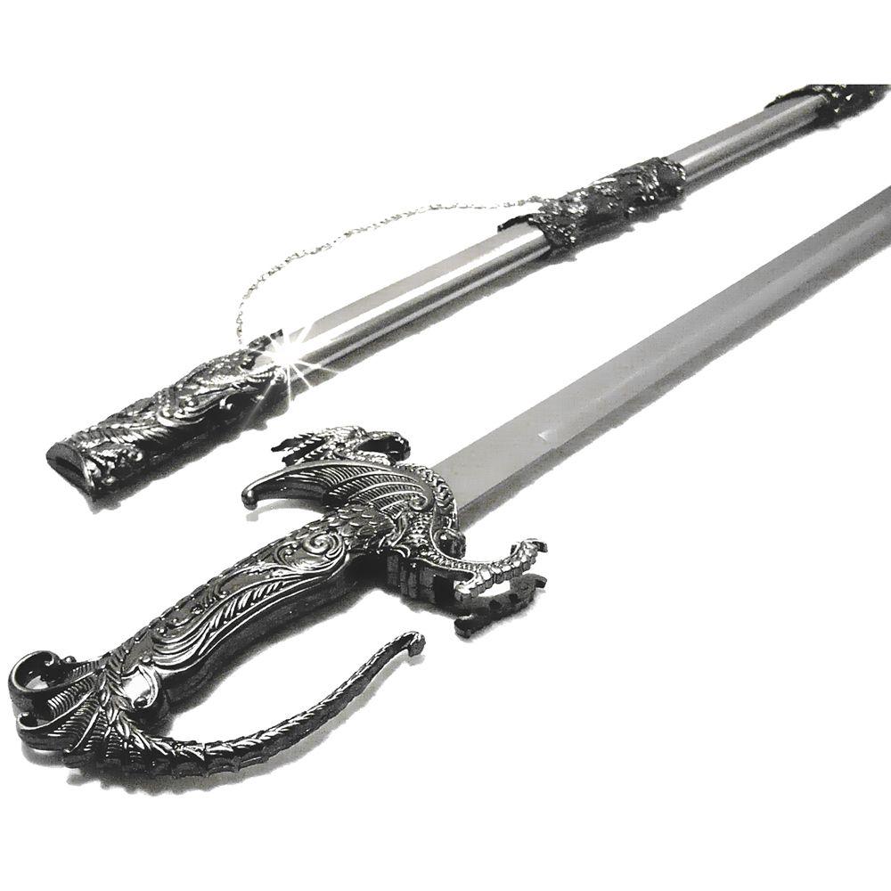 Espada Medieval Metálica Dragão