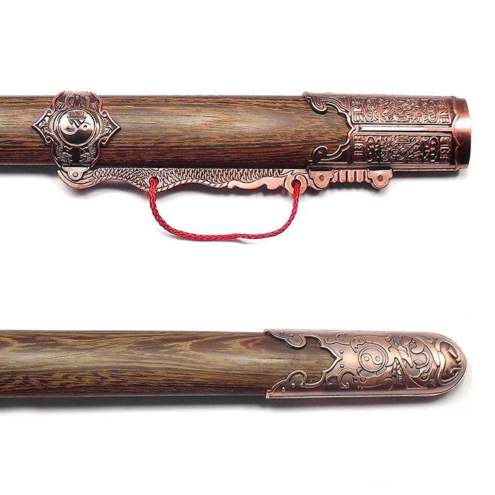Espada Tai Chi Jian San Feng Lâmina Semi-flexível Treino + Suporte Brinde