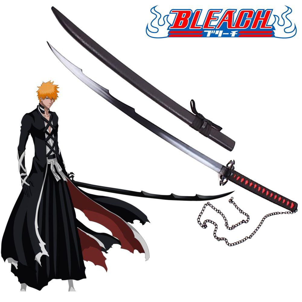 Espada Anime Bleach – Ultimate Tensa Zangetsu de Aço - Super Comprimento de 140 cm
