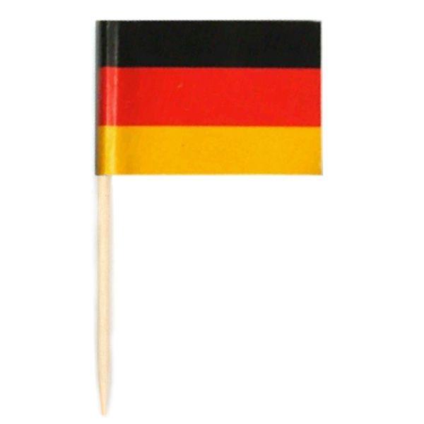 Espeto Bandeira da Alemanha c/ 50 unid.