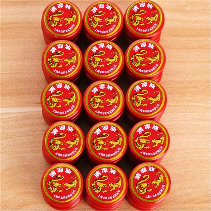 Kit 10 unid. Pomada Tigre e Dragão 100% Legítima - Zhonghua Farmaceutical Comp.- (Pomada Chinesa / Japonesa) - Sensação térmica instantânea, Eficaz alívio da dor, Potente estimulante de áreas erógenas