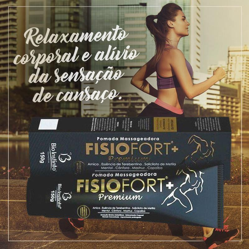 Kit 2 Pomadas Fisiofort +Premium Concentrada 150 g - Bio Instinto / Sensação Térmica Instantânea, Otimizador da Circulação Sanguínea, Alívio da Tensão Muscular, Dor e Cansaço