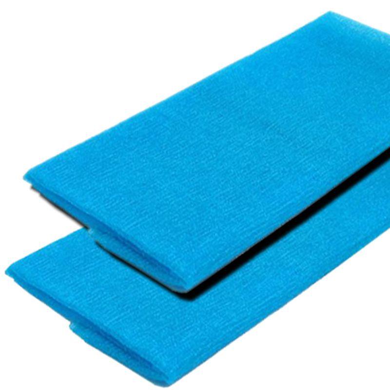 Kit 2 Toalhas de Banho Massageadoras Esfoliantes Azul