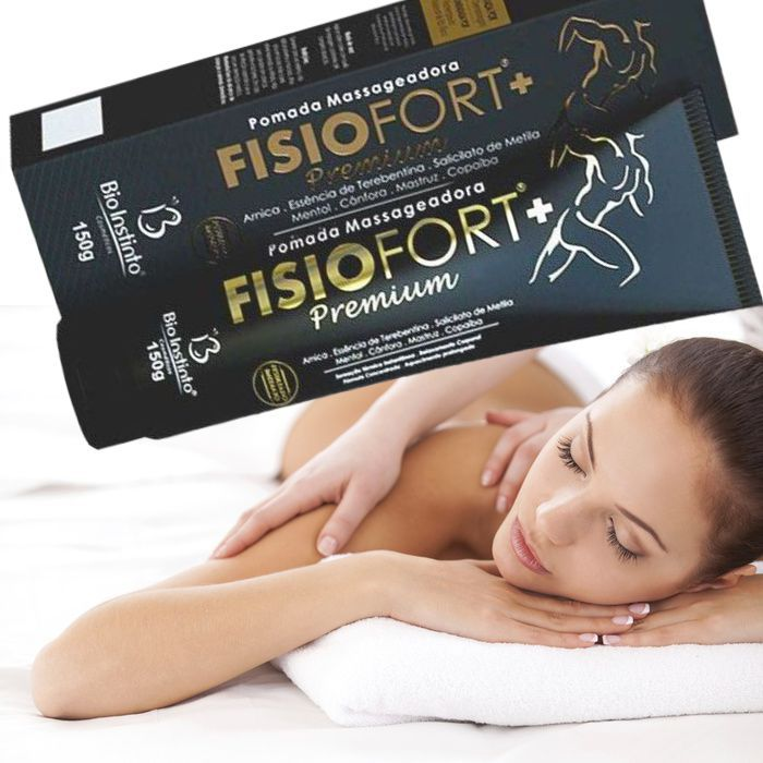 Kit Massageador Orbital Fitness Power 110v + Pomada Massageadora Fisiofort Premium - Sensação térmica instantânea, alívia dor e cansaço + Drenagem linfática p/ Celulite e Flacidez, Relax de Músculos