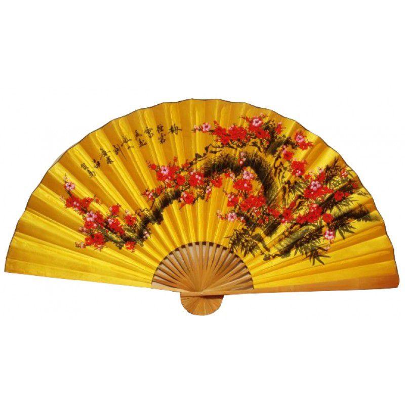 Leque de Parede 160 x 90 cm Amarelo / Sakura Vermelho
