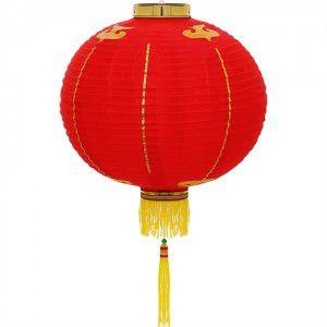 Luminária Chinesa Tecido 40 cm
