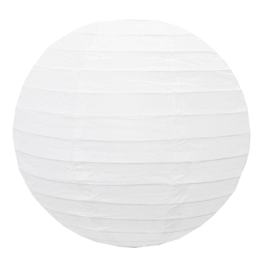 Luminária Oriental Branca Lisa 40 cm