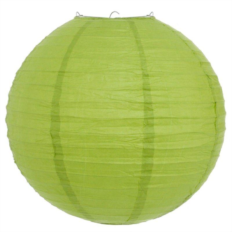 Luminária Oriental Verde Claro Lisa 40 cm