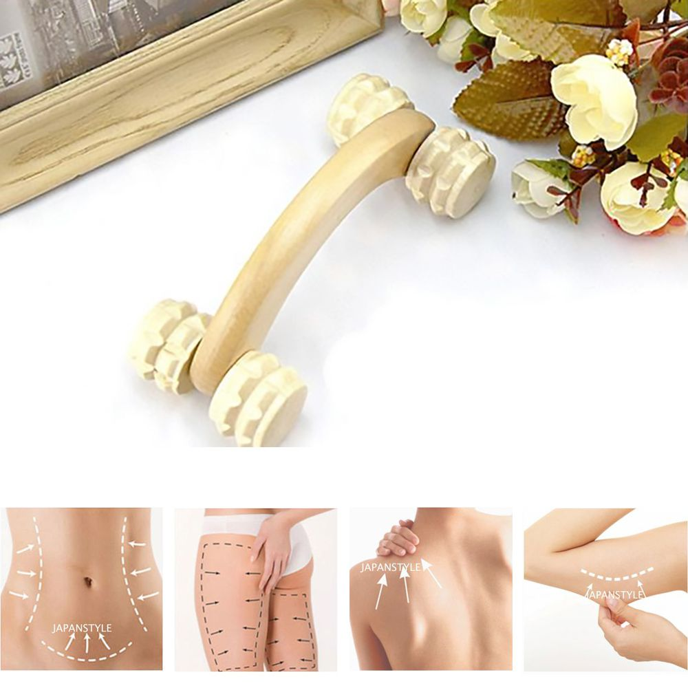 Massageador Carrinho p/ Maderoterapia - Melhora a Circulação Sanguínea, Combate a Gordura Localizada,  Afina a Cintura, Drenagem Linfática p/ Celulite e Flacidez e Relax de Músculos