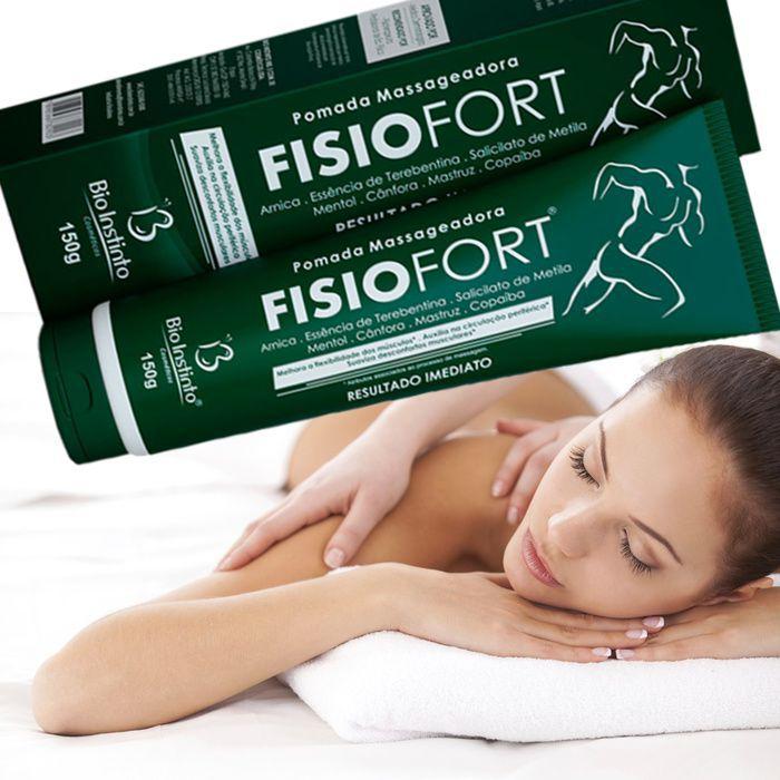 Pomada Massageadora Fisiofort 150 g - Bio Instinto / Sensação Térmica Instantânea, Otimizador da Circulação Sanguínea, Alívio da Dor e Cansaço!