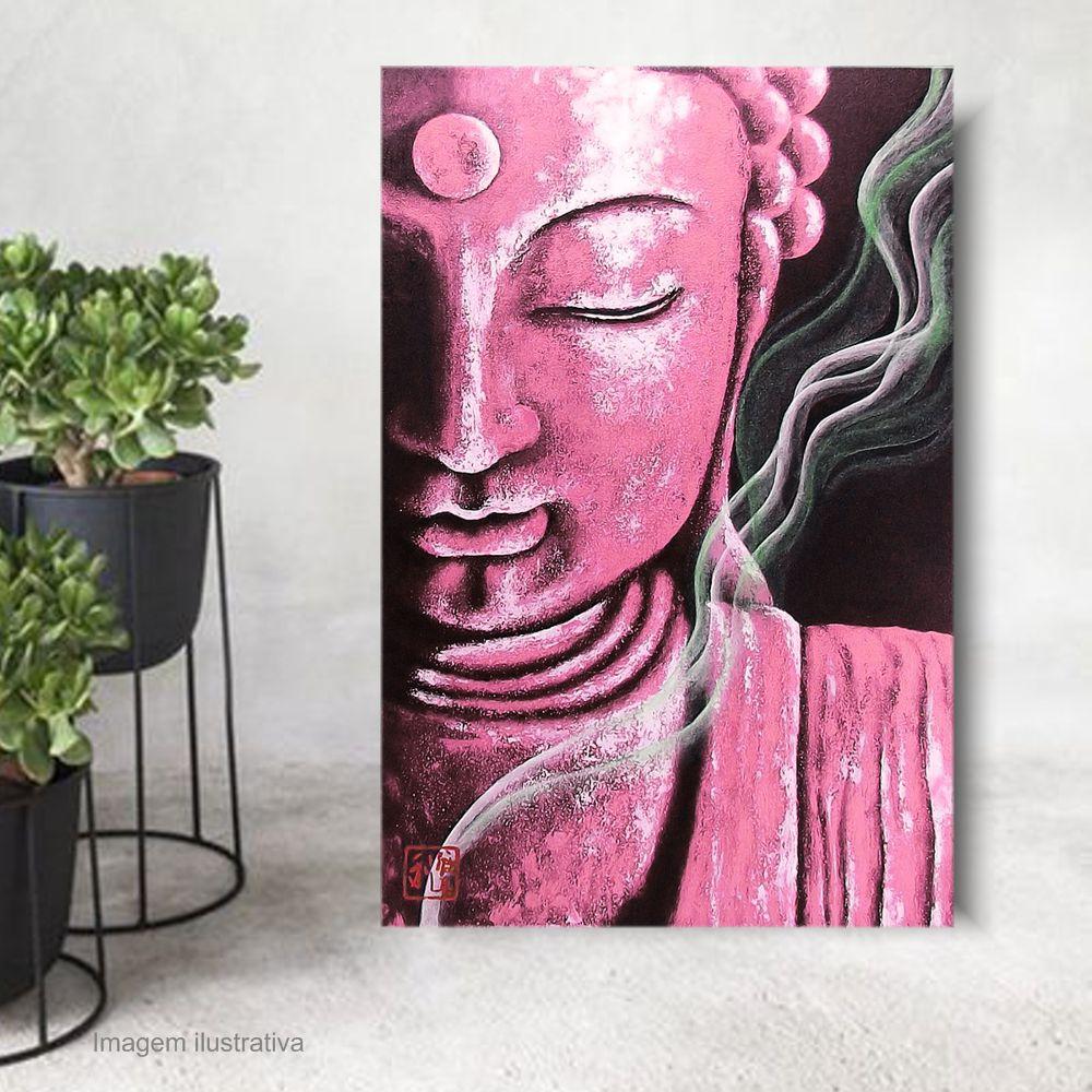 Quadro Buda Meditação Color Acrílico sobre tela Pintado à Mão 100 x 70 cm / Feng Shui, Decoração Oriental, Arte, Estampa Japonesa, Pintura Artesanal