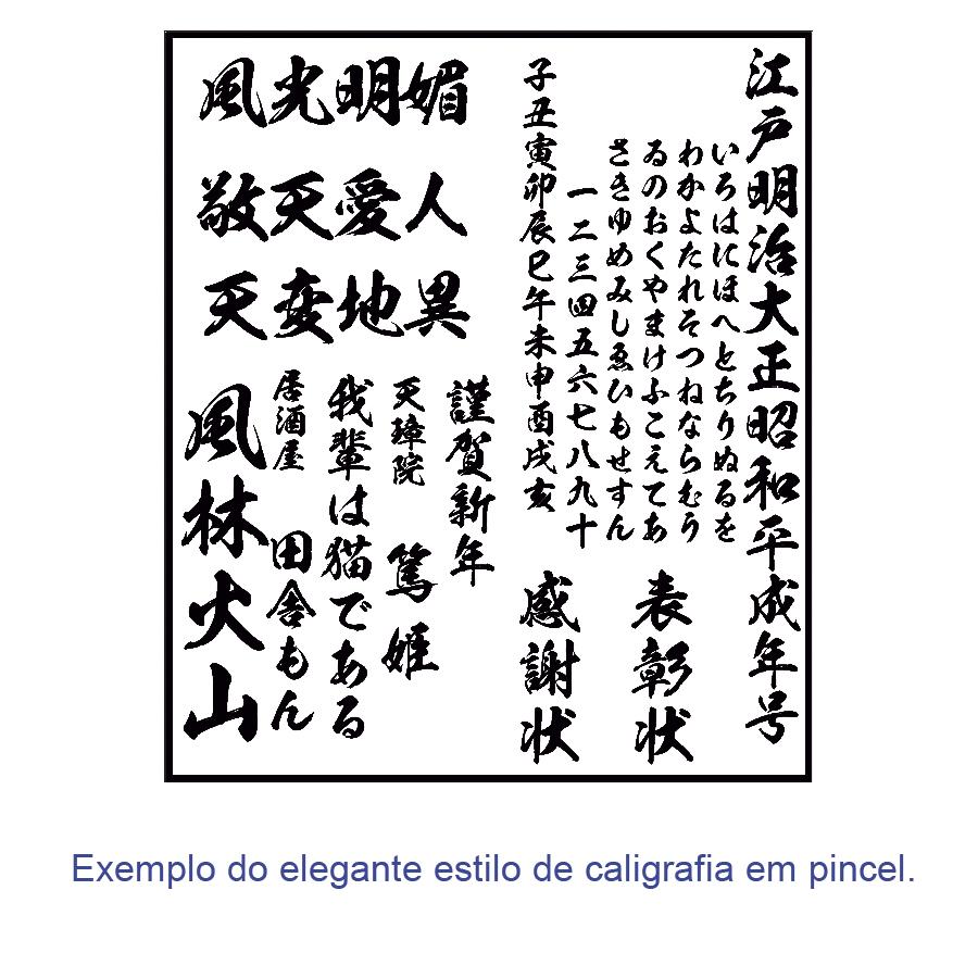 Quadro Oriental Personalizado / Ideograma Kanji em Estilo de pincel 60 x 30 cm / Zen, Feng Shui, Decoração Oriental, Academia, Sala de estar, Escritório, Karate, Aikido, Judo, Ninjutsu, Yoga, Samurai