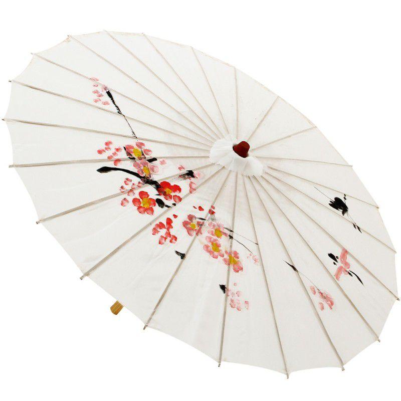Sombrinha Oriental Decorativa Branca 85 cm