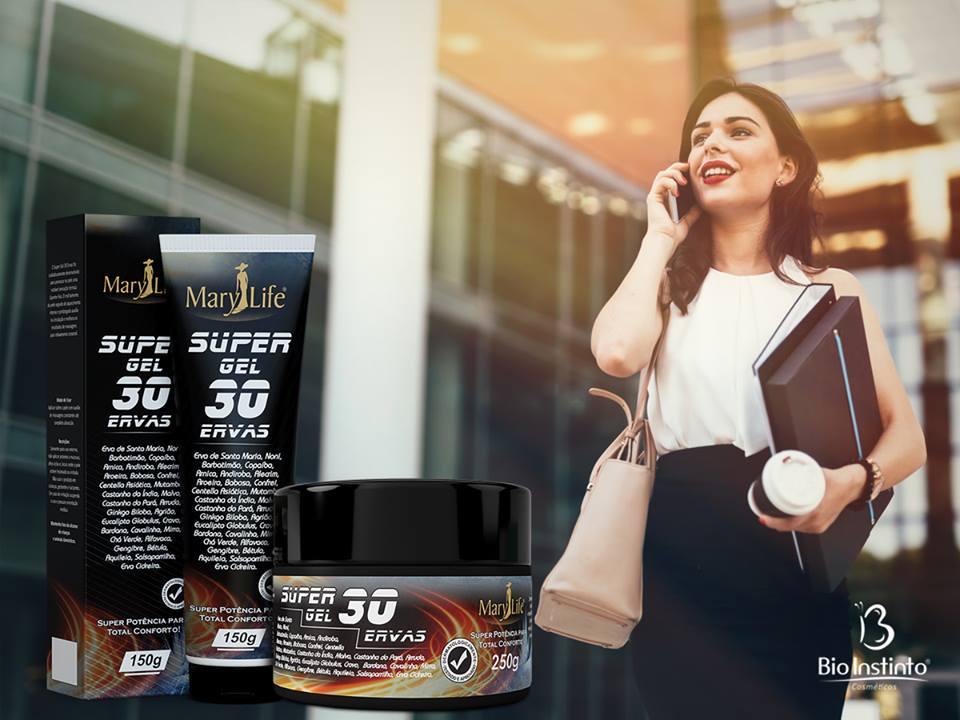 Super Gel 30 Ervas Mary Life Bio Instinto 250g / Sensação Térmica Quente-Frio Instantânea, Otimiza a Circulação  Sanguínea, Reduz a Fadiga e Tensão Muscular, Alivia a Dor e Cansaço