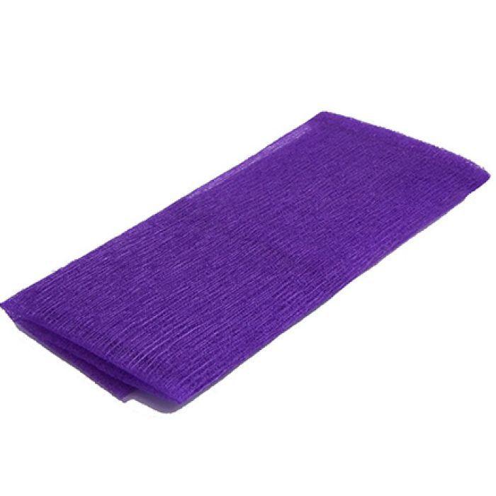 Toalha de Banho / Massagem Esfoliante Nylon Roxo 30x89cm
