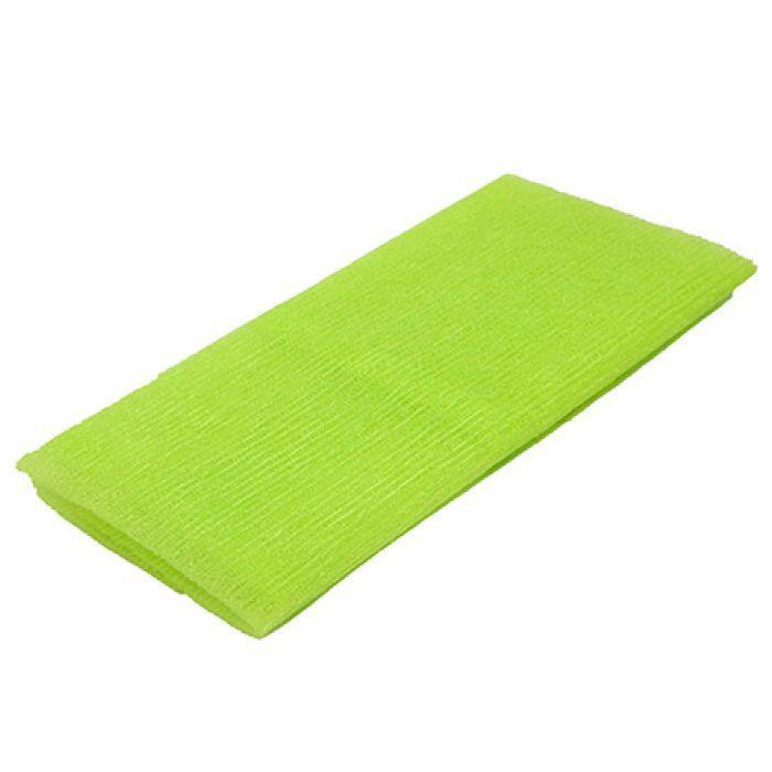 Toalha de Banho Tipo Japonesa Nylon Verde 30 cm x 89 cm / Massagem Esfoliante Terapêutica Instantânea, Alívio do Cansaço e do Stress!