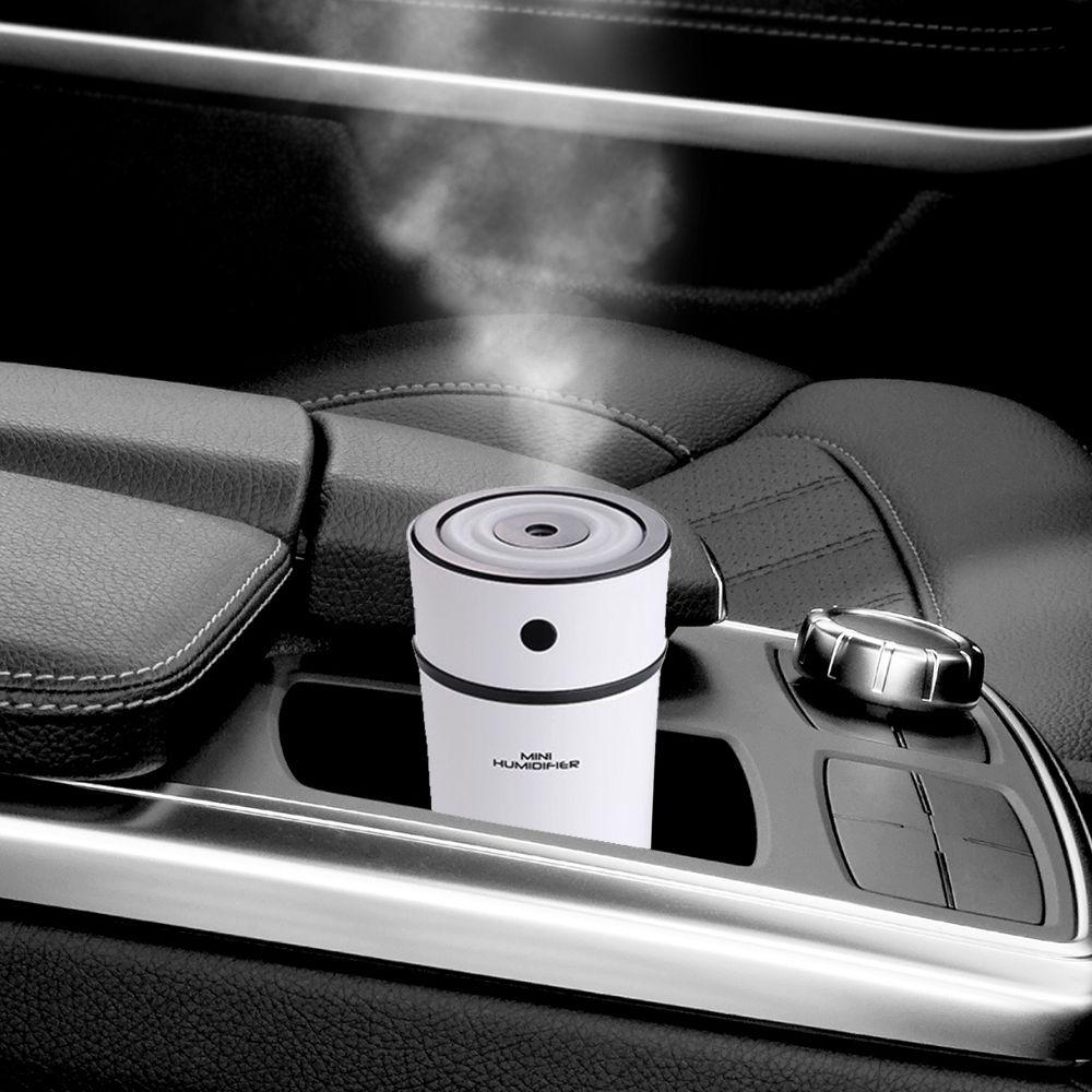 Umidificador de Ar Ultrassônico Humidifier Copo 300ml c/ Essência 2ml / Aromatizador / Luminária / USB / Ideal p/ Carros