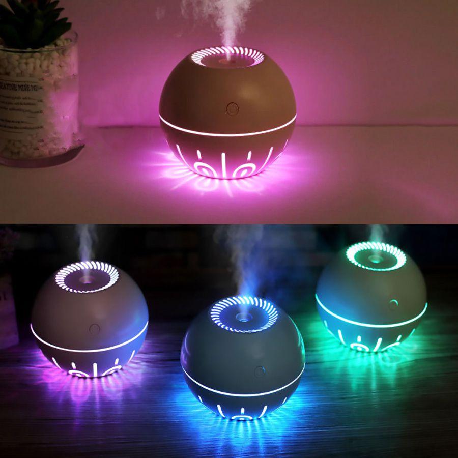 Umidificador de Ar Ultrassônico LightSpeed Cor de Madeira Clara 330ml c/ Essência 2 ml / Aromatizador / Luminária / USB