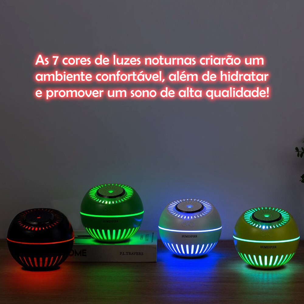 Umidificador de Ar Ultrassônico Melon Multifunção 2 Unidades Verde Musgo e Verde