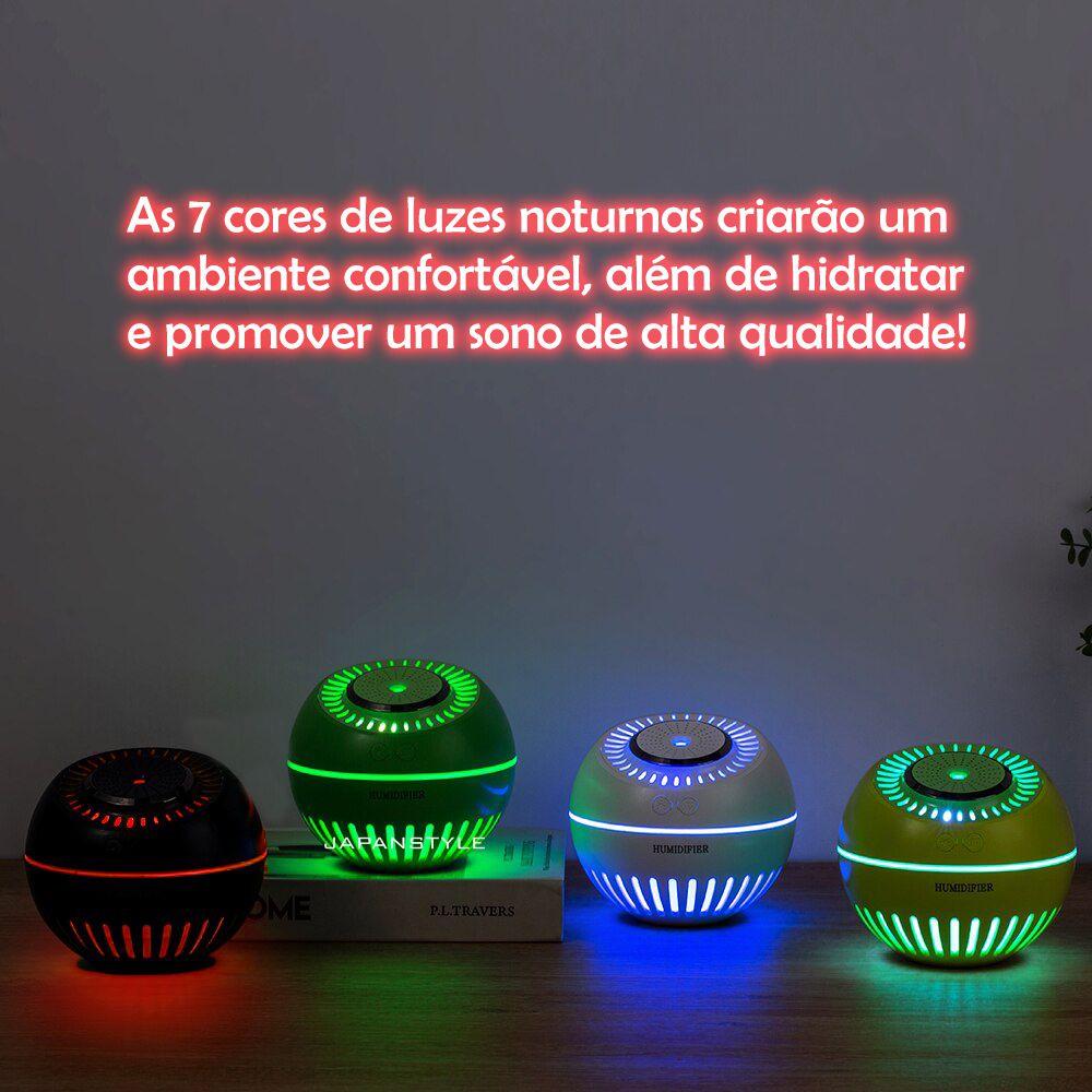 Umidificador de Ar Ultrassônico Melon Multifunção 3 unidades Branco e Verde Musgo