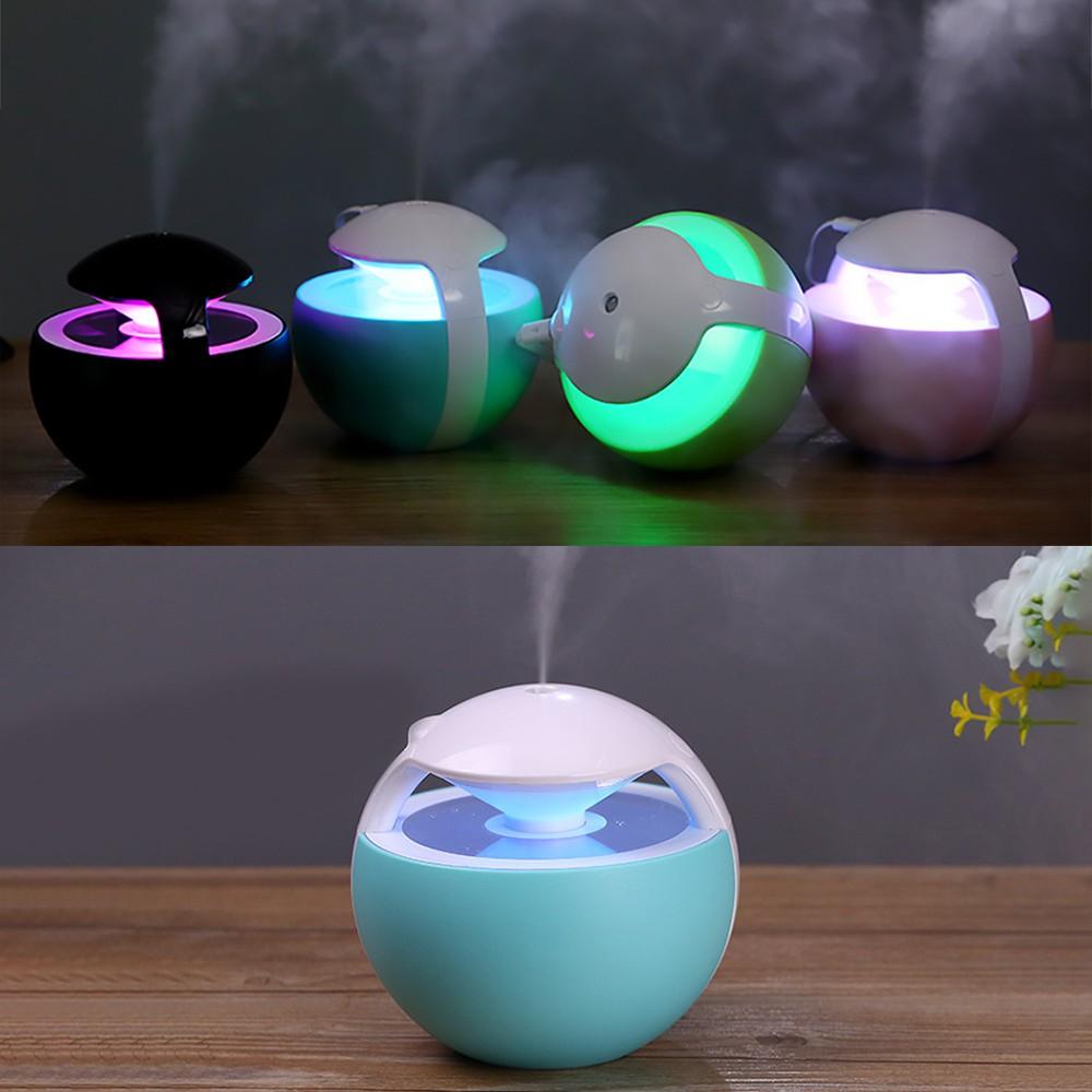 Umidificador de Ar Ultrassônico Night Elf Azul 450ml Brinde  Essência 2ml / Aromatizador / Luminária 7 Cores / USB