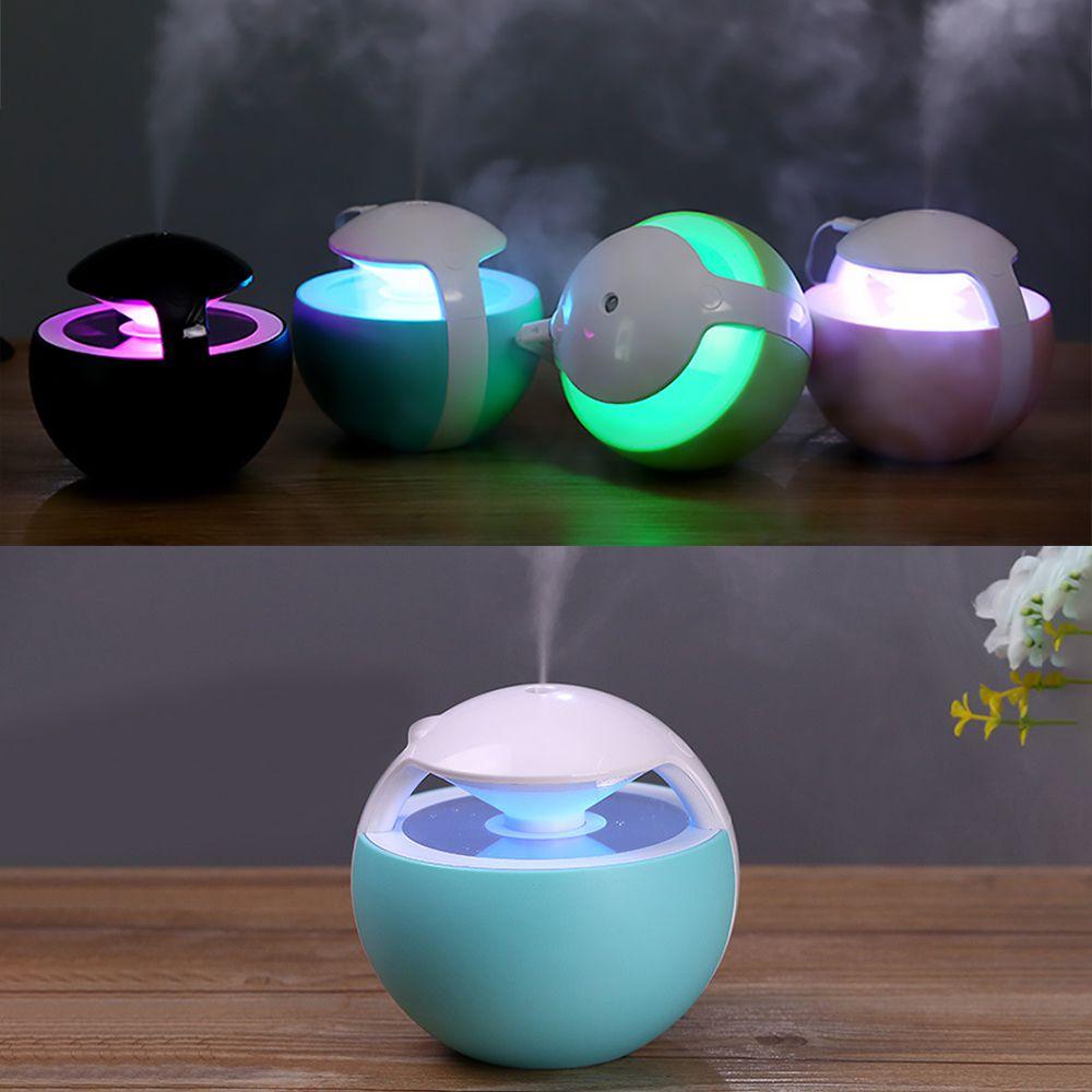 Umidificador de Ar Ultrassônico Night Elf Azul 450ml c/ Flaconete de essência 2,5ml / Aromatizador / Luminária c/ 7 Cores de Luzes Alternadas, Carregamento USB, Ideal p/ Casa e Veículos