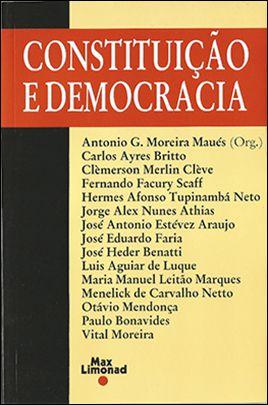 CONSTITUIÇÃO E DEMOCRACIA <br> Antonio G. Moreira Maues (Org.)  - LIVRARIA MAX LIMONAD