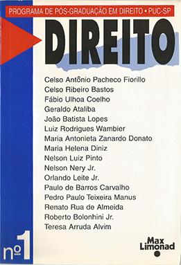 DIREITO N 1 - Publicação do Programa de Pós-Graduação PUC-SP <br> Diversos autores   - LIVRARIA MAX LIMONAD
