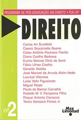 DIREITO N 2 - Publicação do Programa de Pós-Graduação PUC-SP <br> Diversos autores   - LIVRARIA MAX LIMONAD
