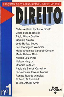 DIREITO N 1 - Publicação do Programa de Pós-Graduação PUC-SP <br> Diversos autores