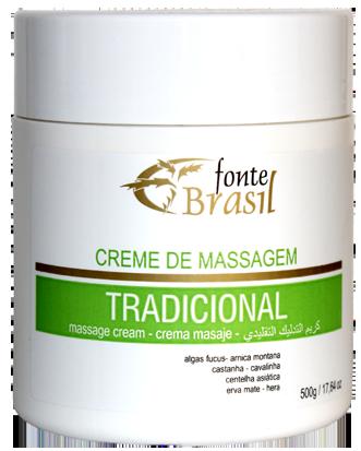 Creme de Massagem Tradicional 500g  - Fonte Brasil Cosméticos