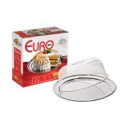 Porta Bolo Inox 02 peças com tampa plástica Euro Home