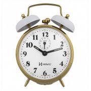 Relógio Despertador Mecânico Herweg 2215 – Branco
