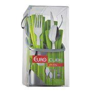 Conjunto de Talheres 24 peças Euro Home Cube Verde