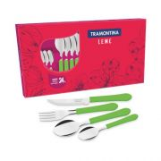Faqueiro Inox  24 peças  Leme Tramontina 23198/230 Verde – Tramontina