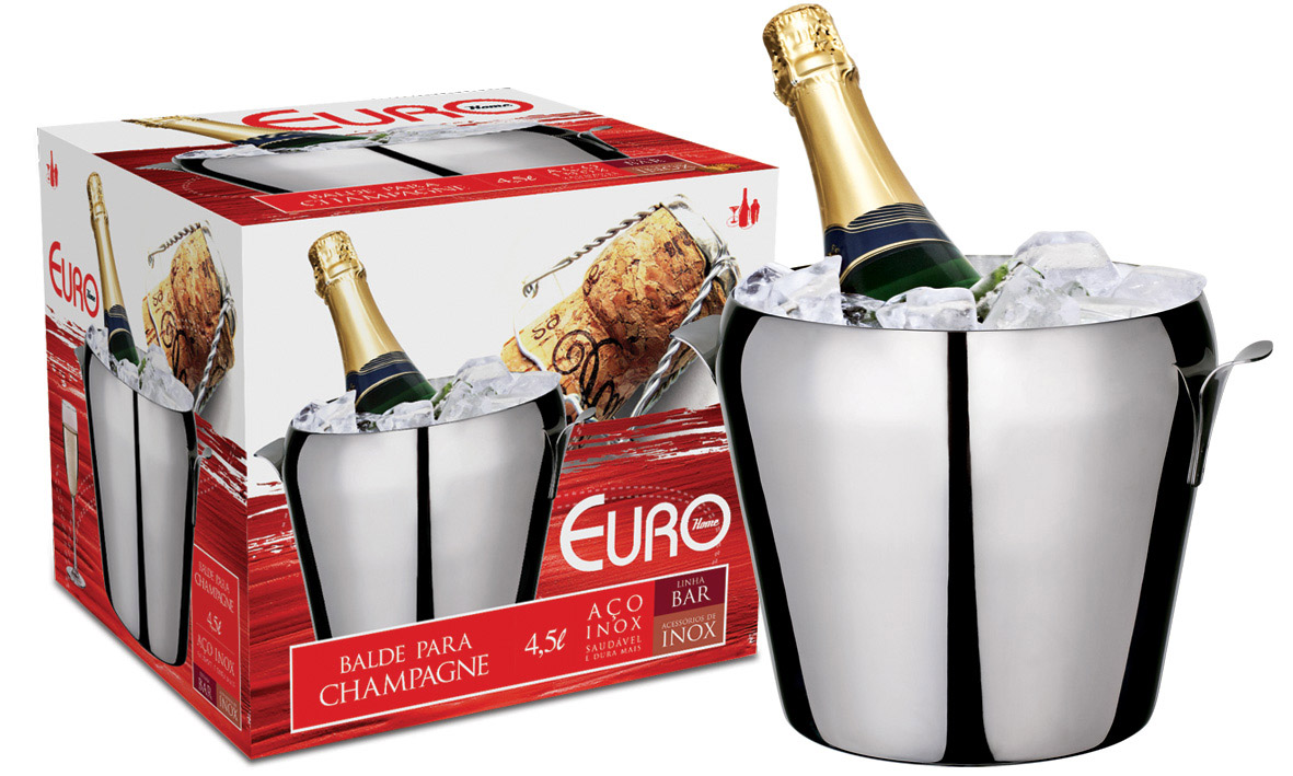 Balde para Champagne 4,5L Inox Euro Home