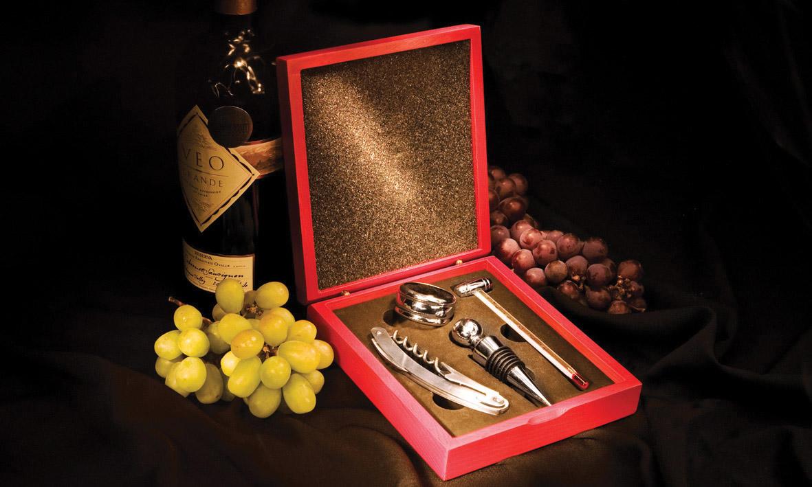 Conjunto para Vinho 04 peças Inox Euro Home