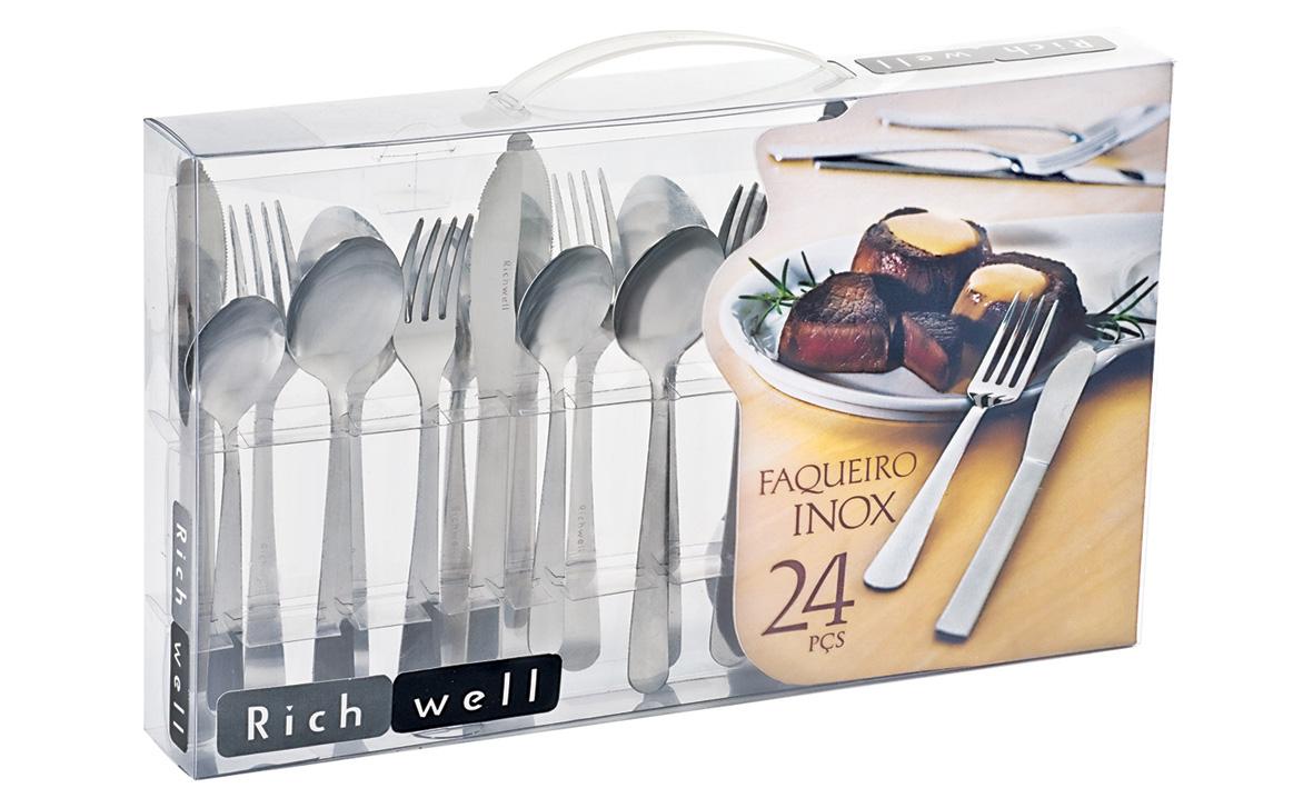 Faqueiro Inox 24 peças Richwell